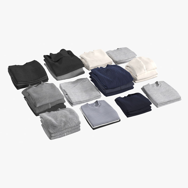 3D realistic folded clothes