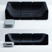 3D pool-modular-sofa-side-table model