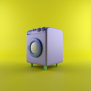 cartoon machine 3D