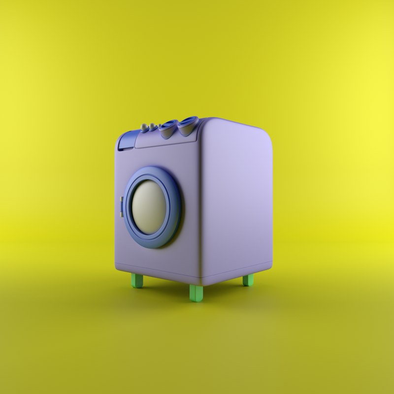 cartoon machine 3D