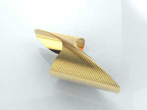 3D model designer bracelet