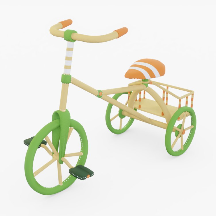 tricycle wooden 3D model