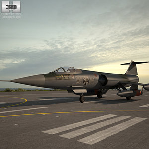 lockheed starfighter f-104 3D