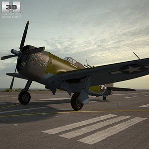 republic p-47 p 3D model