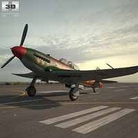yakovlev yak-9 yak 3D