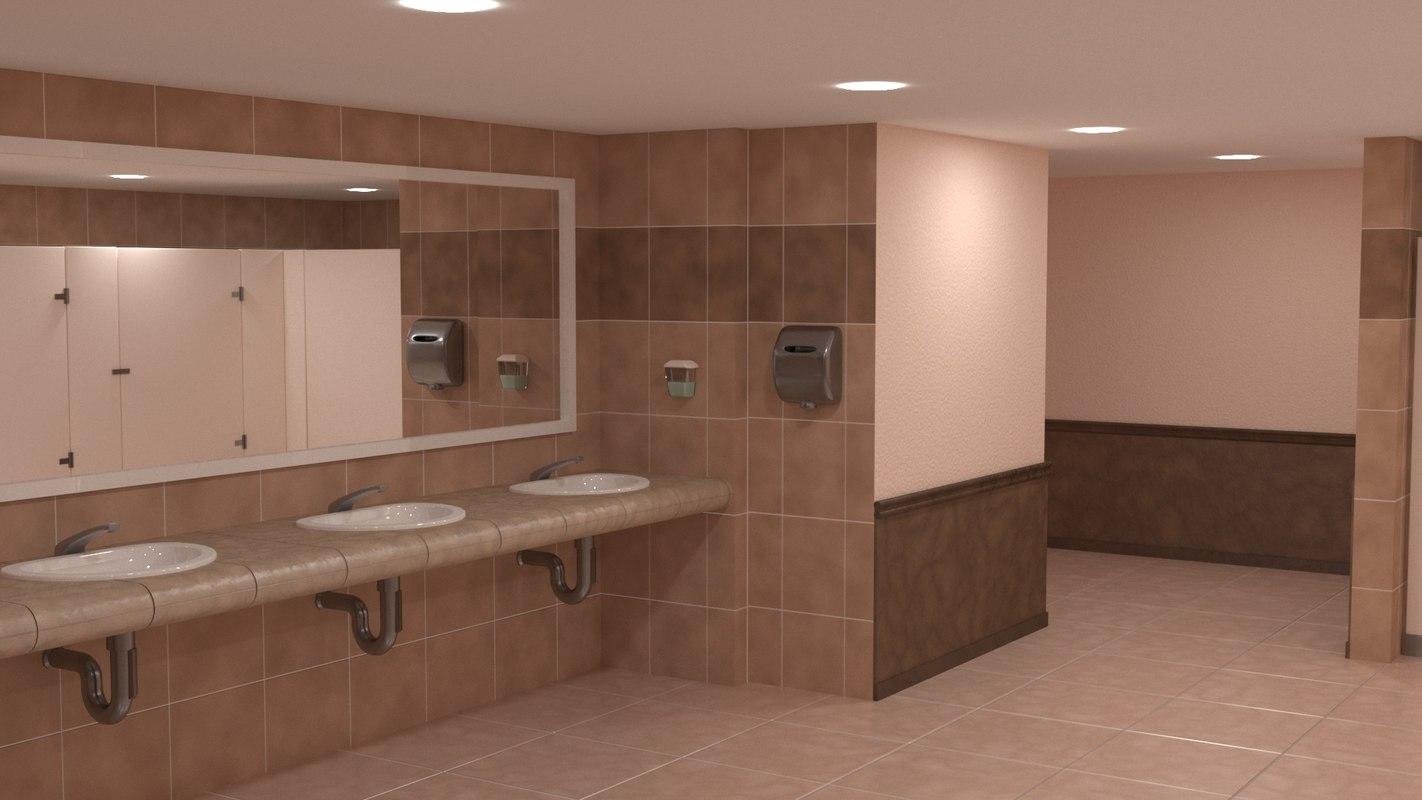 public bathroom 3D model