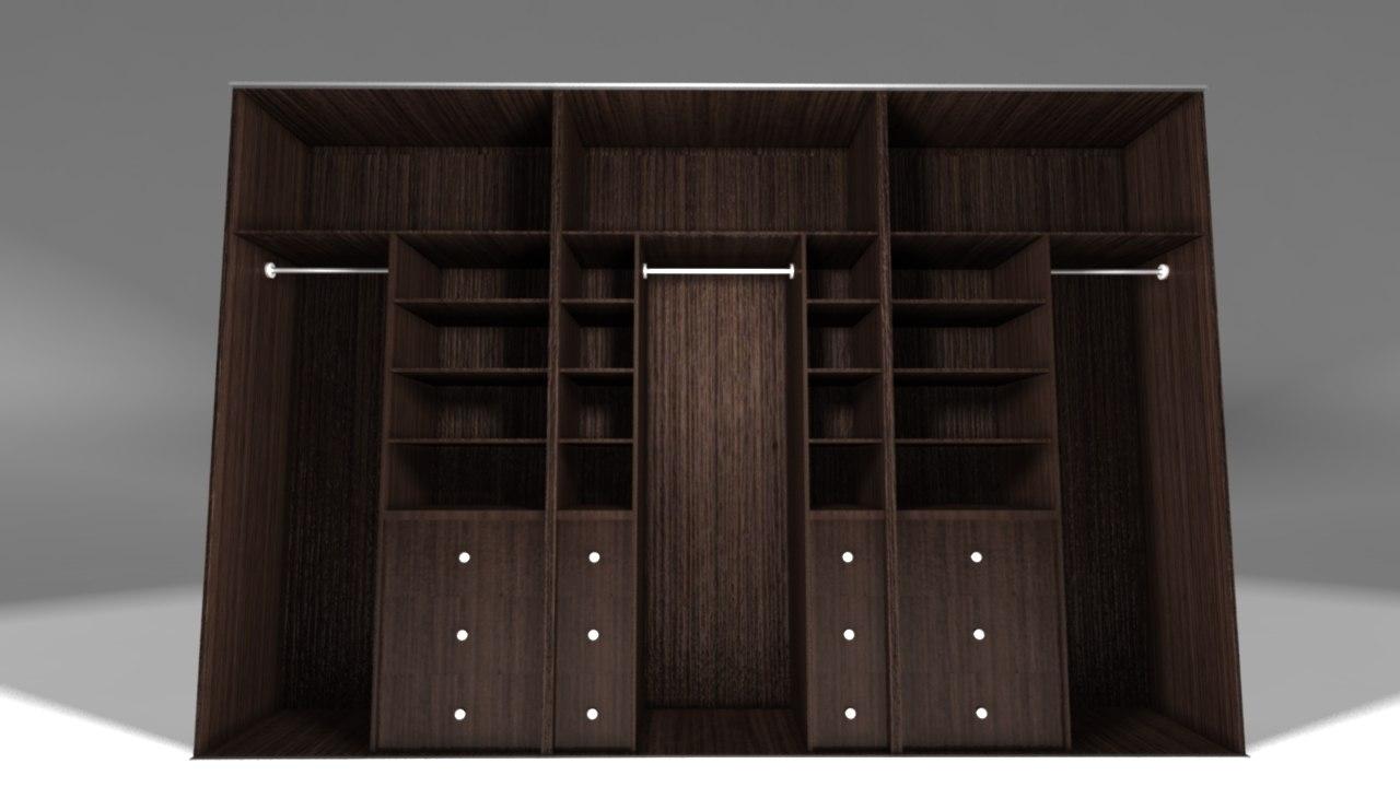 cupboard bedroom 3D model