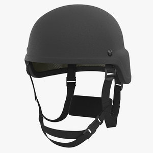 kevlar helmet black 3D model