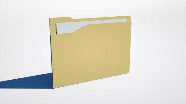 desktop folder 3D