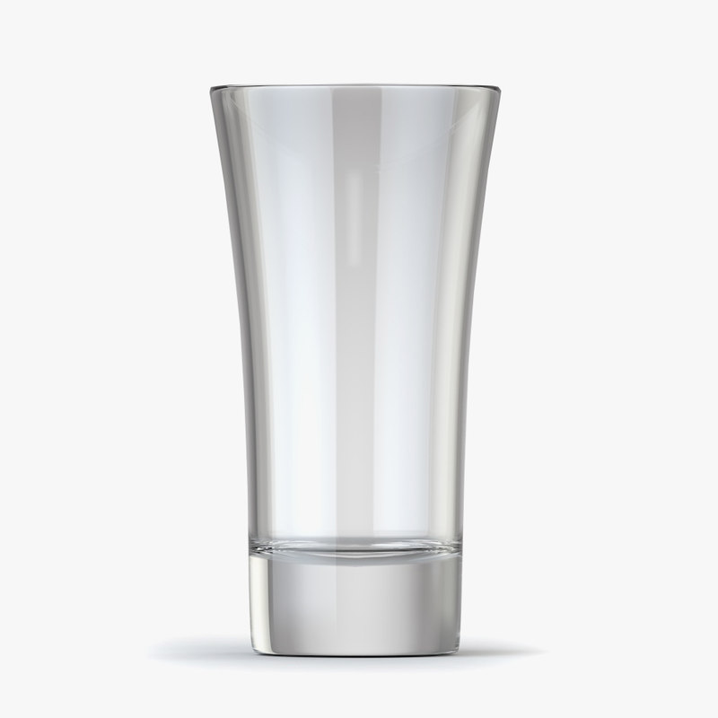 3D vodka glass model