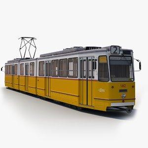 3D model ganz csmg budapest tram