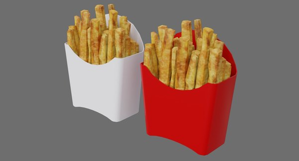 3D french fries 1a model