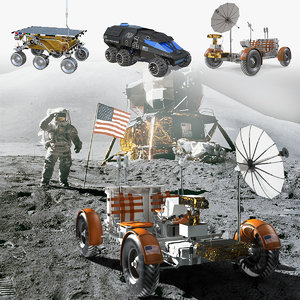 space vehicles 3D