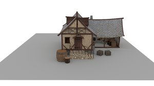medieval blacksmith house 3D model