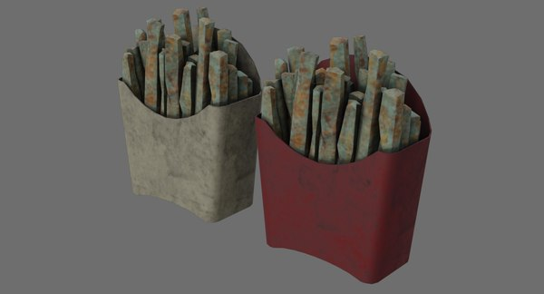 3D model french fries 1b