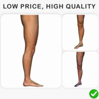 human leg 3D model