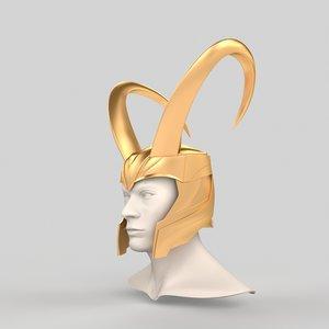3D loki helmet print model