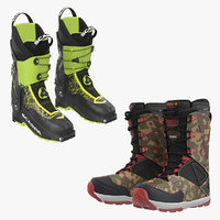 ski snowboarding boots 3D