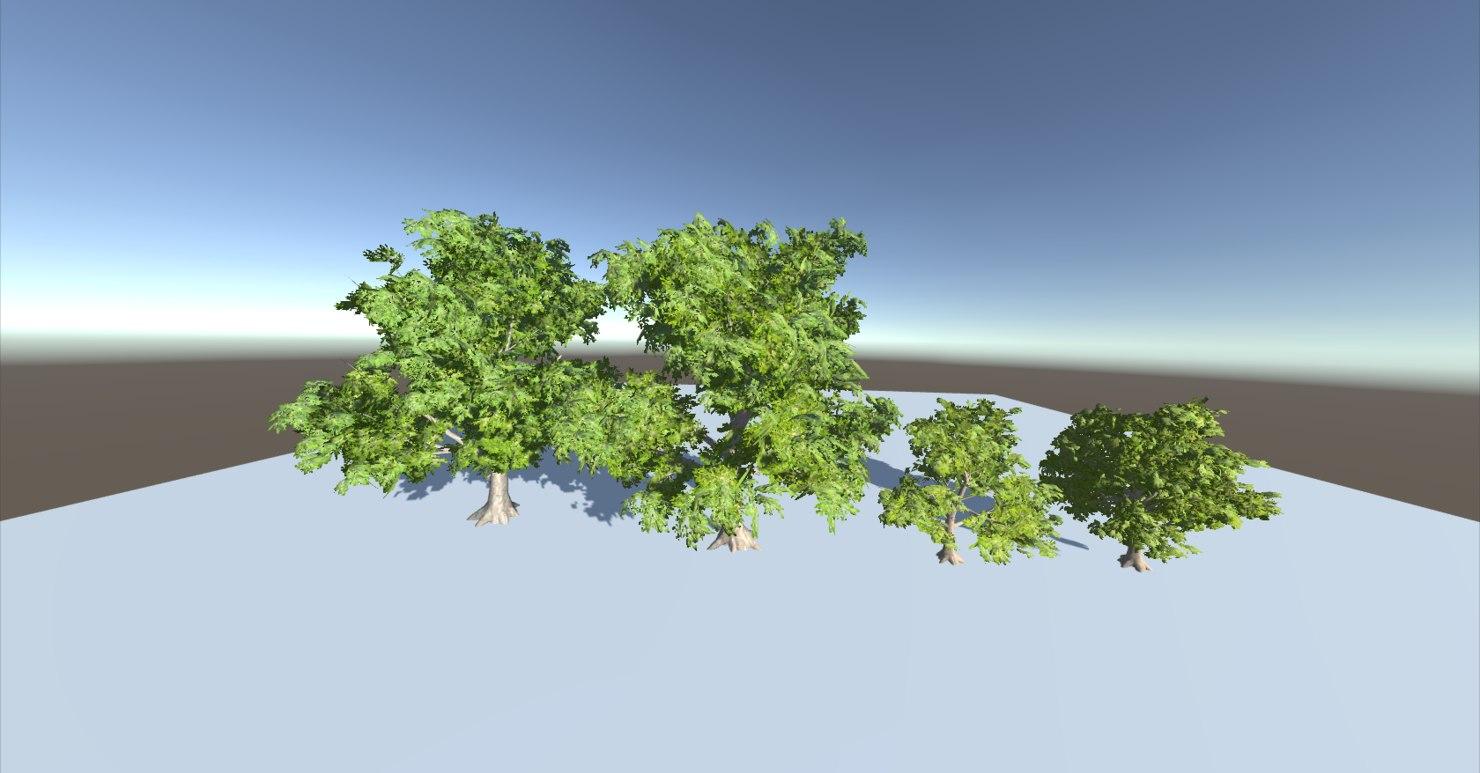 3D trees wind model