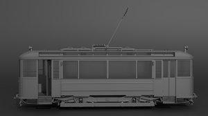3D european tram