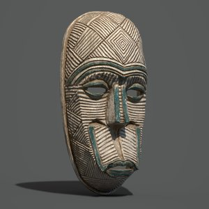 3D mask tribal