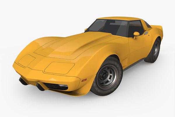 3D chevrolet corvette 1978 model