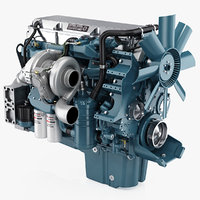 3D model detroit diesel series 60
