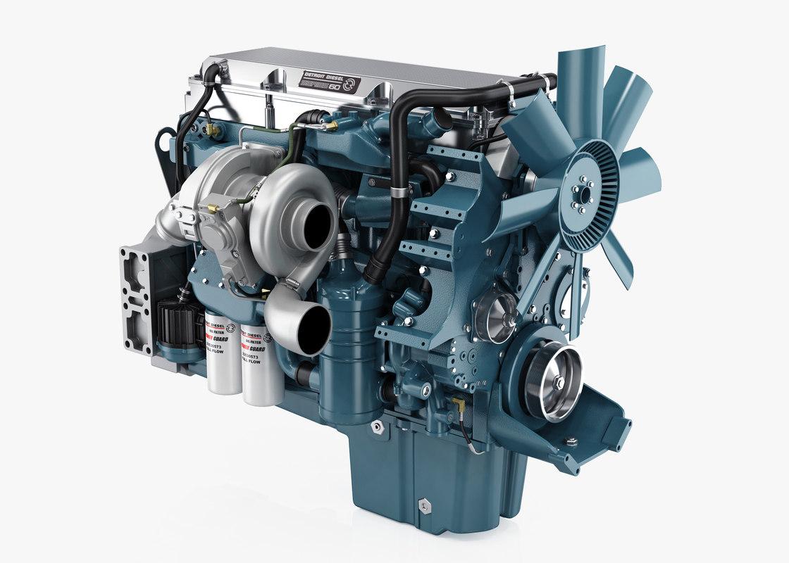 3D Model Detroit Diesel Series 60