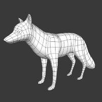 fox mesh 3D model