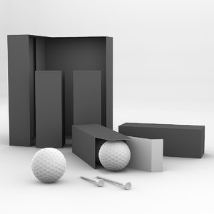 3D golfball package tees set