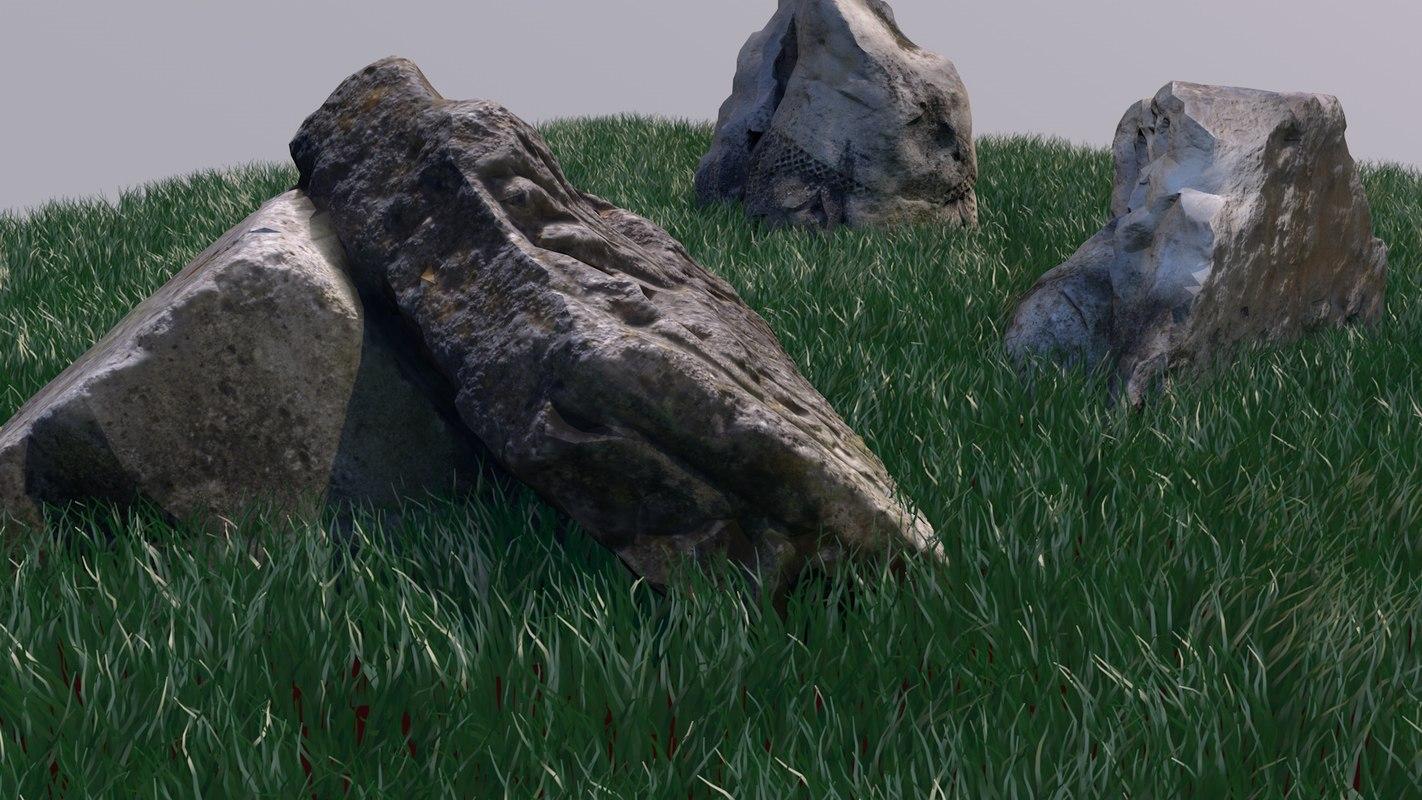 photogrammetry stone 17 roman architecture 3D