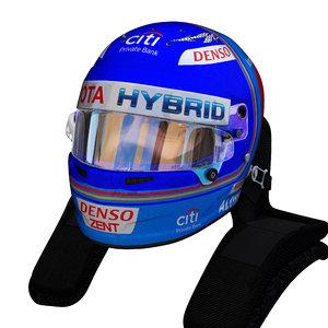 alonso wec helmet 3D model