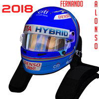 alonso wec helmet 3D model