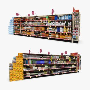 aisle 17 - 3D model