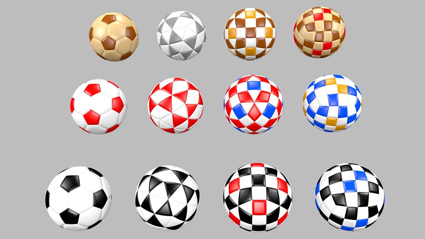 football balls 3D