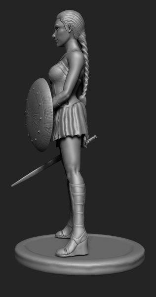 wonder women sculpt 3D model