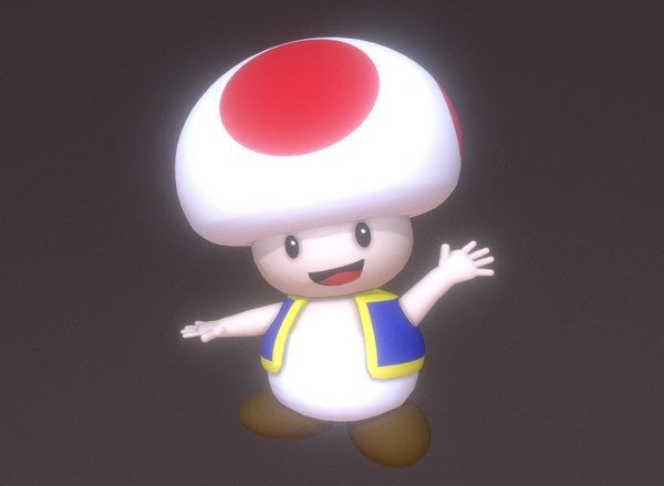 toad super mario bros 3D model