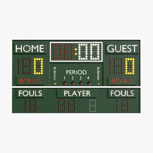3D realistic scoreboard