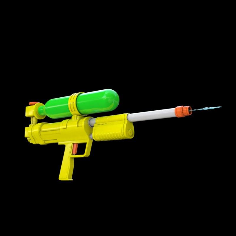 toy squirt gun 3D model