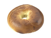 3D photorealistic scanned bagel