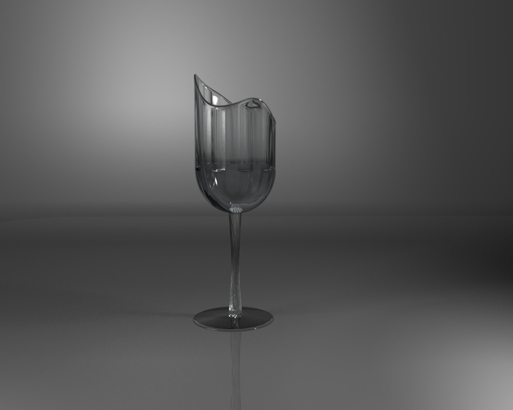 glass transparent 3D model