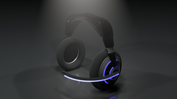 headphones bluetooth gaming 3D model