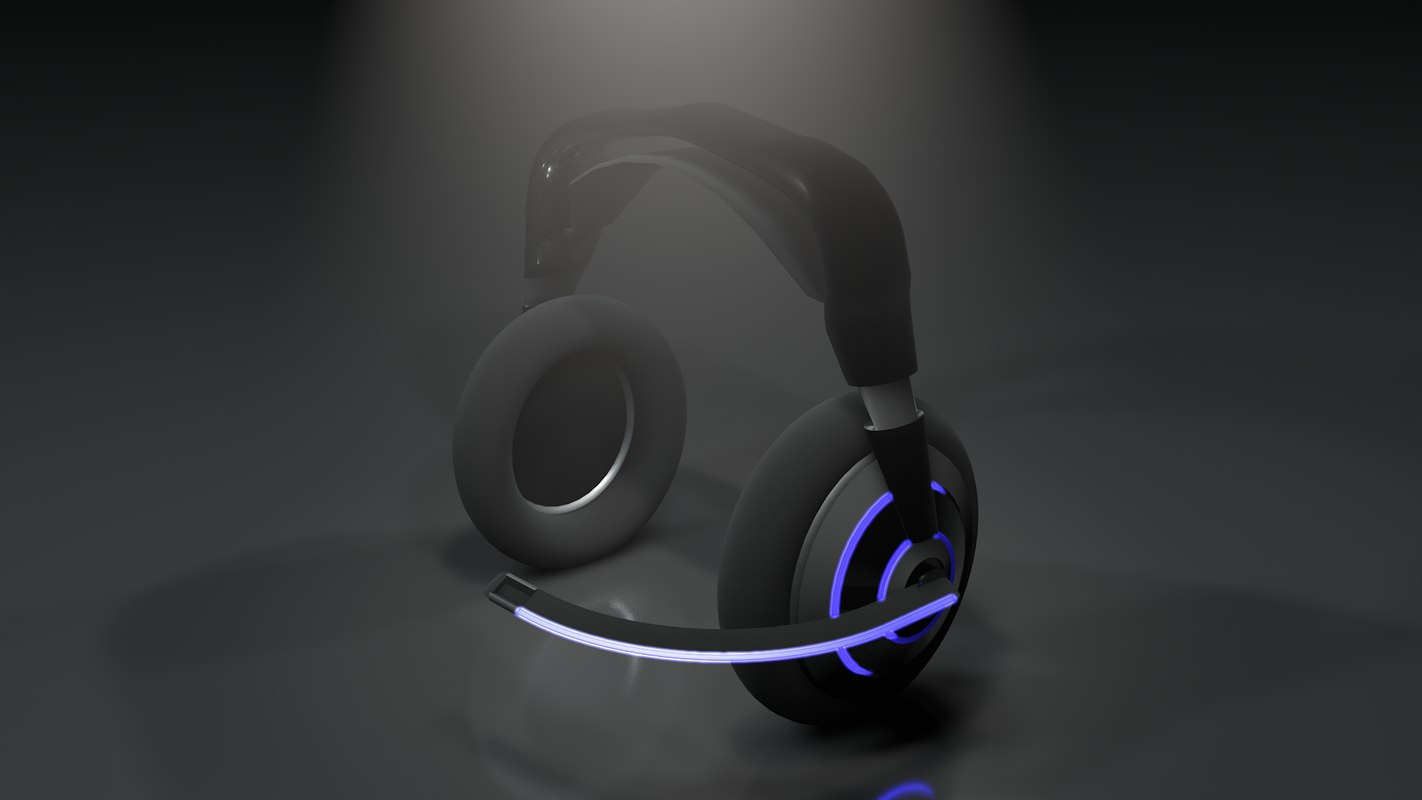 headphones bluetooth gaming 3D model