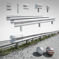 3D road fence kit model