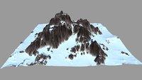 3D snow mountain