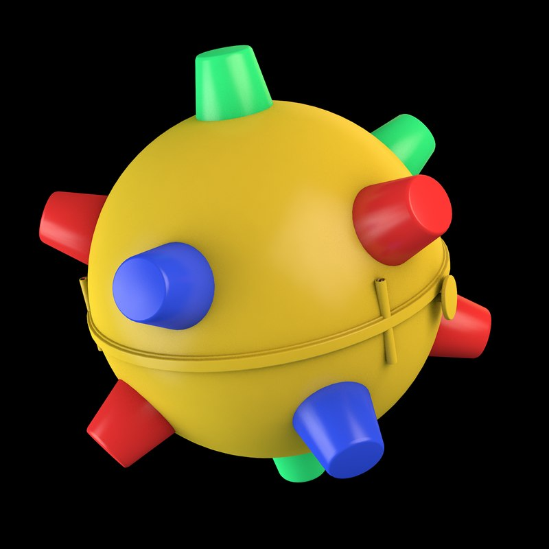 3D toy ball spikes