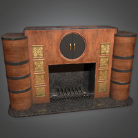 Fireplace(Art Deco) - PBR Game Ready