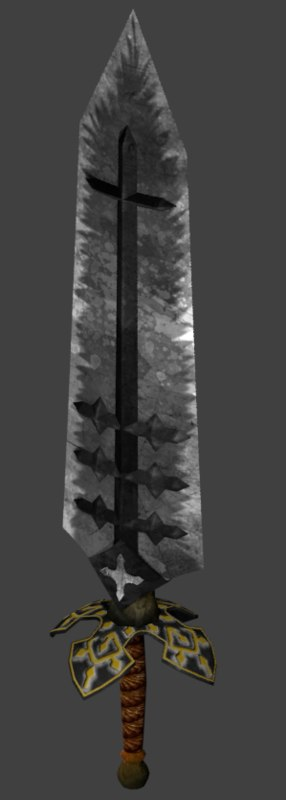 3D asta demon dweller sword model