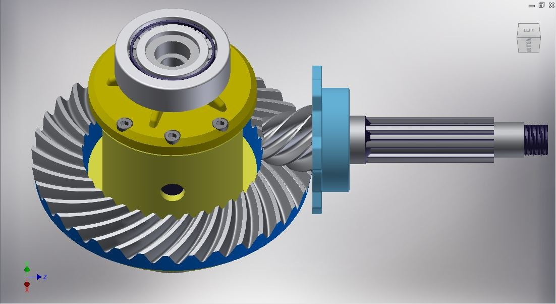 3D gear differential