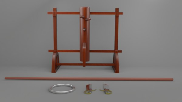 wingchun dummy set 3D